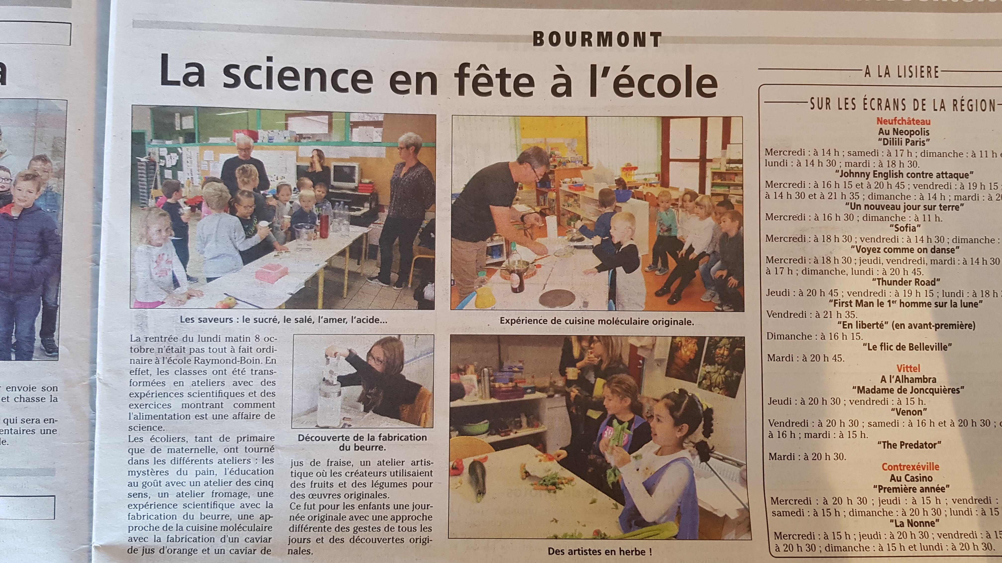 SAPERE-FETE SCIENCE Bourmont